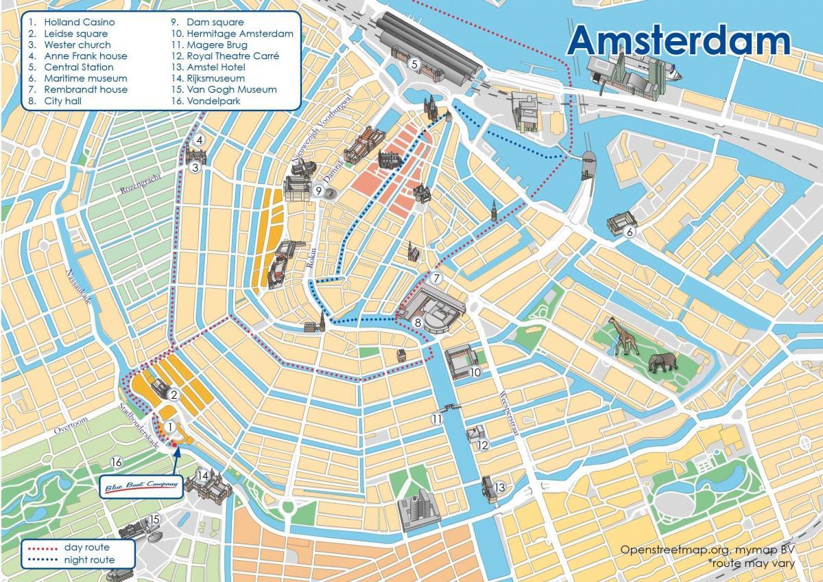 Amsterdam Canal Vene Reitti Kartalla Kartta Amsterdam Canal Vene
